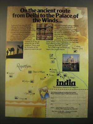 1988 India Tourism Ad - Ancient Route From Delhi