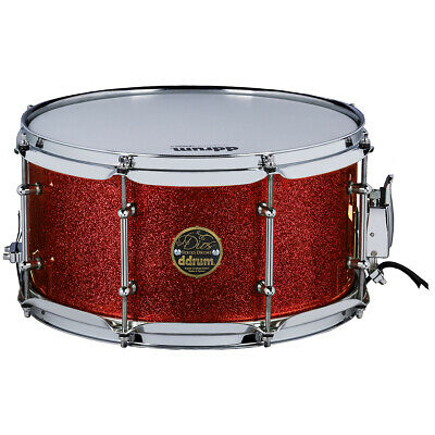 "Ddrum Dios 13"" Dia. X 7"" Snare Drum/Maple Shell/Red Cherry Sparkle/New"