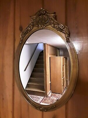 Antique Ornate Gold Wall Hanging Mirror