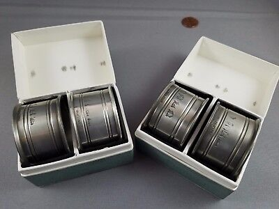 Vintage Silver plated? Set of 4 Napkin Rings, England