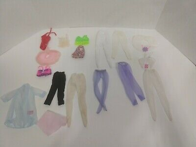 Lot Of Vintage Barbie Clothes Leggings Tights Sheer Robe Swimsuit Undergarments