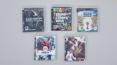 PS3 Games, Set of 5 Games. Call of Duty 4 Modern Warfare PS3, Grand Theft Auto