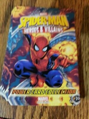 Spider-Man Heroes & Villains Power Card Collection 2013 89 cards.