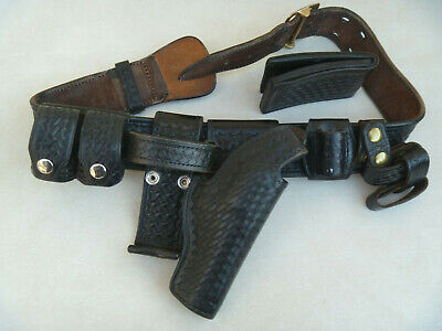 Security Duty Belt Holster Safety Speed, Gould, Don, Accs. Leather Basket W READ