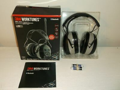Pre-Owned 3M Worktunes Bluetooth Pro Hearing Protector 24db NRR - Good Condition