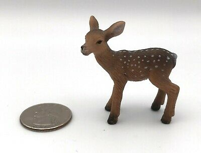 Schleich ROE DEER FAWN Baby 14381 Animal Wildlife Figures 2007 Retired Rare!