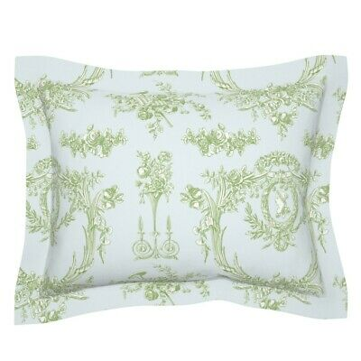 French Vintage Rococo Toile Shabby Chic Cottage Style Pillow Sham by Roostery