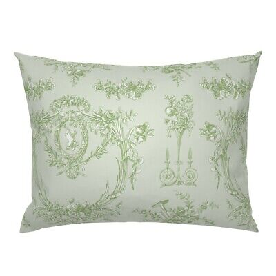 French Vintage Rococo Shabby Chic Floral Cottage Style Pillow Sham by Roostery