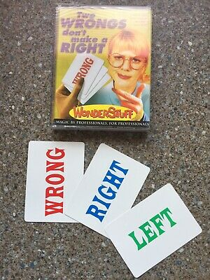 (G) Card Magic Trick Two Wrongs Don't Make A Right By Pat Trick
