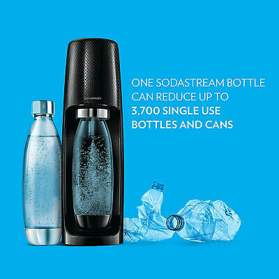 SodaStream Fizzi Sparkling Water Maker w/ CO2 & bonus BPA free .5L Bottle, Black