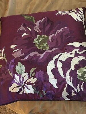 Marks & Spencer Feathered & Piped/Zipped  Cushion Mulberry Colours 20X20Inches