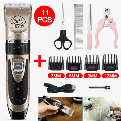 USB Electric Cordless Pet Dog&Cat Grooming Clipper Hair Trimmer Shaver Kit DIY