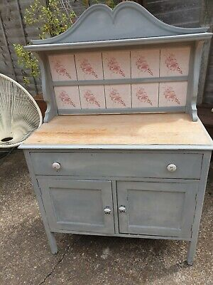 Vintage Old Rustic Shabby Chic Washstand Table Storage We Can Deliver