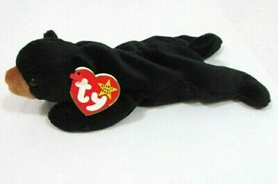 Original Ty Beanie Baby Blackie the black bear 1993 PE Pellets With Tags plush