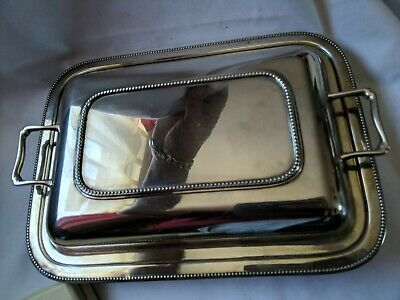 VINTAGE squerrel  Silver Plated Tureen & Lid with Pyrex glass liner