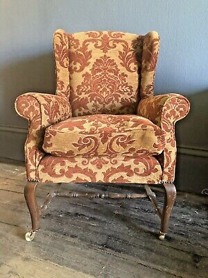 Antique 19th C Wingback armchair  in good condition