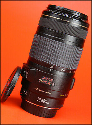 Canon EF 70-300mm Image Stabilizer IS USM F4-5.6 Zoom Lens with Front & Rear Cap
