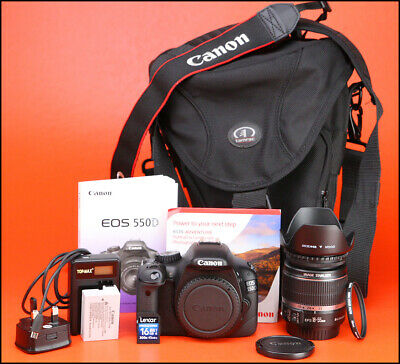 Canon EOS 550D  DSLR Camera +18-55mm IS Zoom Lens Kit - Only 1,262 Shots
