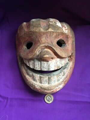 Carved Wooden Theatre Mask possibly Japanese, early 20th Century