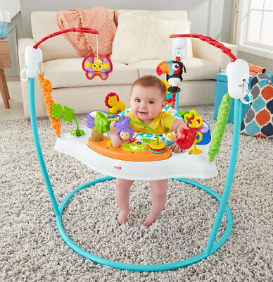 Fisher Price Animal Activity Jumperoo Sensory Music Lights Sounds Jumper Seat
