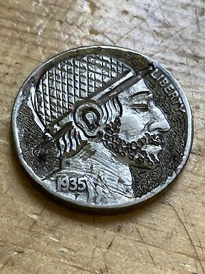 Hobo Nickel Coin Art Hand Carved