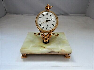 Vintage Ritz Clock on a Marble Base