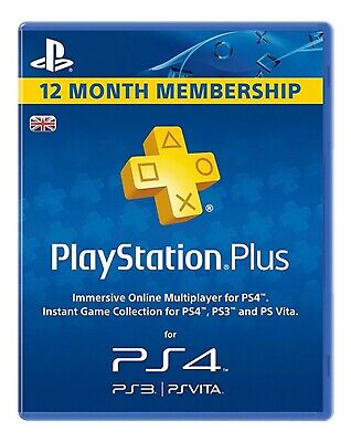 SONY PlayStation Plus 12 Month UK Subscription Email Delivery