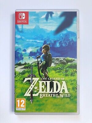 The Legend of Zelda Breath of The Wild (Nintendo Switch, 2017) Game With Box