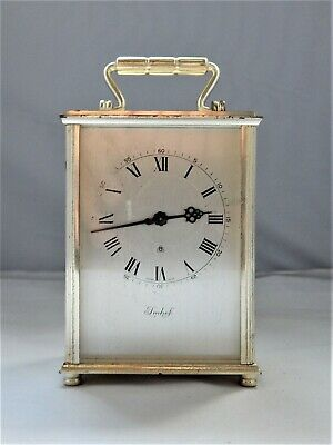 Vintage Imhof 8 Days Swiss Made Carriage Clock