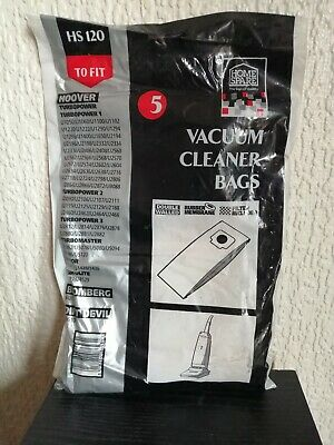 Hoover TURBOPOWER, TURBO MASTER JUNIOR & TURBOLITE vacuum cleaner bags (x5)