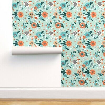 Wallpaper Roll Flowers Snow Berries Queen Anne Lace Winter Day 24in x 27ft