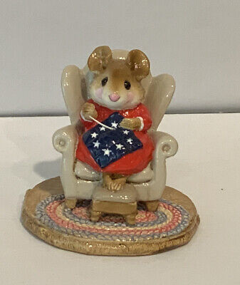 Wee Forest Folk Special Color RARE Betsy Ross Quilting Bea (ONLY 38 MADE)