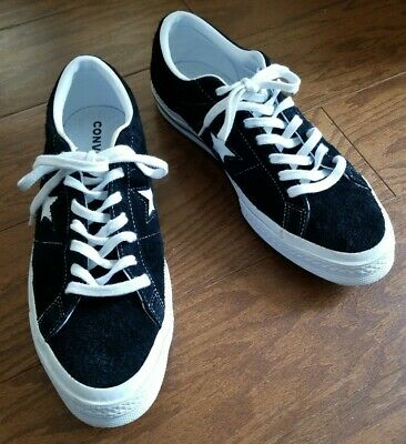 CONVERSE One Star Ox Black/White Suede Pro Skate OG Sneakers Mens 9/Womens 11