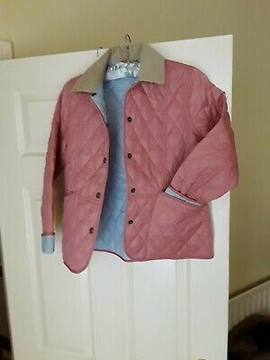 Girls Barbour  Jacket  Pale pink.  Size Large. Brand new without tags
