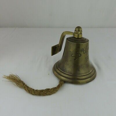 Rare Antique 1949 Ship's Bell from S.S. Himalaya British Nautical Orig. Rope