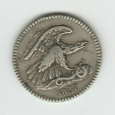 1837 Feuchtwanger's Composition One Cent Hard Times Token Very Fine