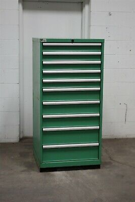 Used Lista 10 drawer cabinet industrial tool shop storage bin #2161 Vidmar