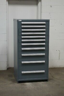Used Stanley Vidmar 11 drawer cabinet industrial tool storage box #2159
