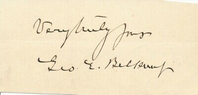 George E. Belknap - Signature of the U.S. Navy Rear Admiral