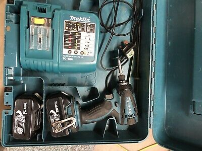 makita 18v impact driver with charger and batteries
