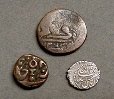 3 Antique India Hammered Coins
