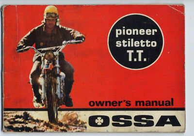 Ossa Pioneer Stiletto T.T. 175 250 1971 manuale uso originale owner's manual