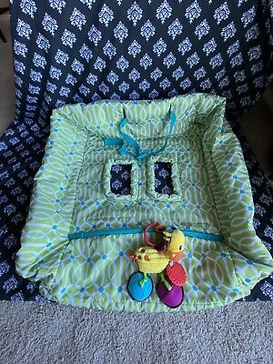 BOPPY Shopping Cart High Chair Cover & Infantino Sensory Rattle Toy Giraffe NWOT