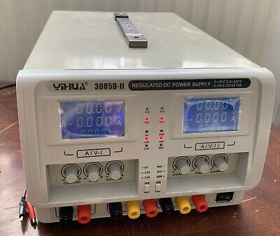 Yihua 3005D-Ii 4-Digit Variable Triple Outputs Linear Dc Power Supply Lab 0-30