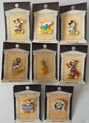 Disney Pin Pursuit 2002 I Conquered the World Set of 7 Plus Passholder Exclusive