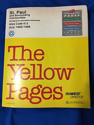 Vintage Yellow Pages Telephone Book St. Paul & Surrounding Communities Jul 95-96