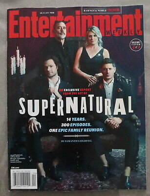 Entertainment Weekly Magazine Supernatural Group Family Reunion Jensen Ackles