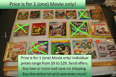 $9 & Up Pick 1 (one) Vintage Studio Movie Film Reg & Super 8MM Some Very Rare