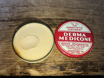 Vintage Derma Medicone Advertising Medicine Tin