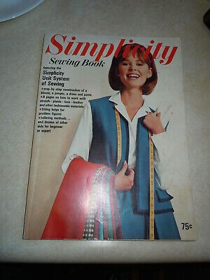 Vintage 1965 Simplicity Sewing Book with Original Yellow insert.